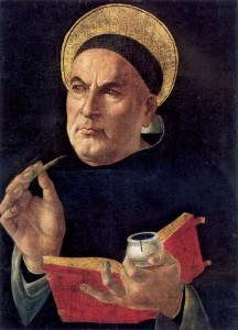 Saint Thomas Aquinas painting by Botticelli