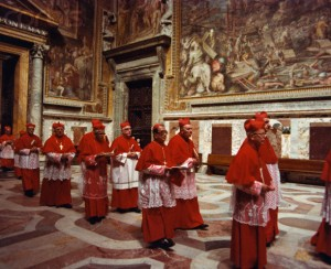 Cardinals Entering Sistine Chapel for Conclave